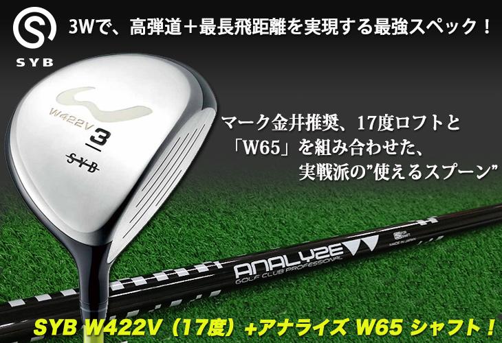 マーク金井推奨「SYB W422V(17度)+アナライズ W65 シャフト」